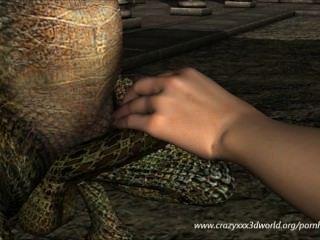 Animación 3d: hada y dragón