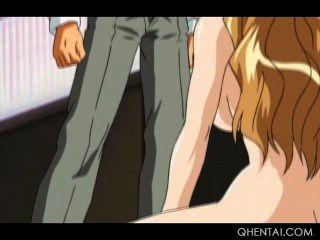 Esclava sexo hentai obtiene su coño adolescente brutalmente clavado