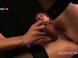 Madura lesbiana puta obtiene snatch fisted duro desde atrás