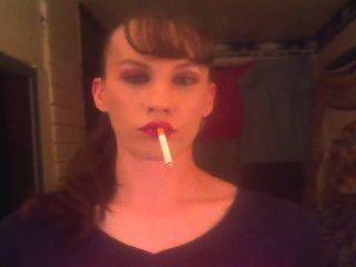 Amante de fumar fetiche