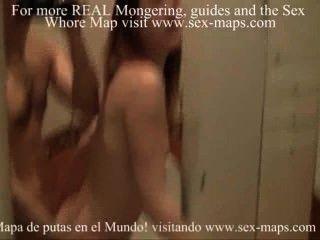 Prostituta salvaje cogida en el cuarto de baño