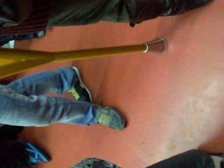 Erección en el metro de madrid