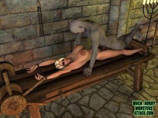 Cuando los monstruos córneos atacan el vídeo de compilación de 3d monster porno clips