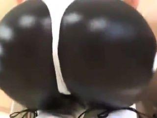 Sexy shiny culo de ejercicios