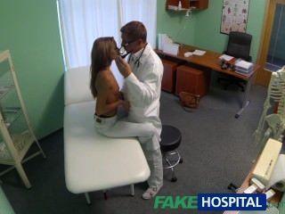 Fakehospital, espiar, caliente, joven, bebé, teniendo, especial, tratamiento