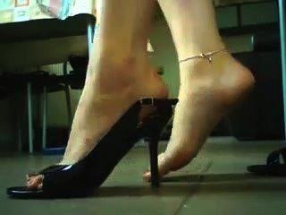 Tacones altos y juego de zapatos