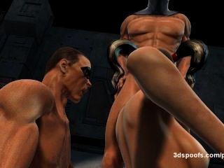 Harley quinn, petirrojo, y el comodín 3 algunos de doble penetración, jugosa coño