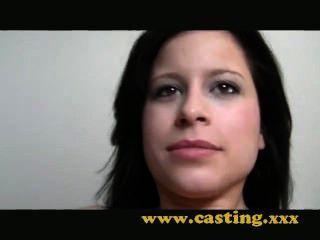 Casting, creampie))) y una bofetada