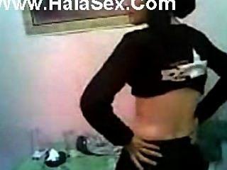 Árabe hijab chica intermitente