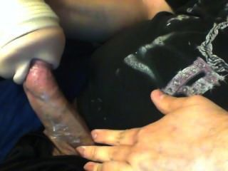 Polla gruesa jugando con Fleshlight