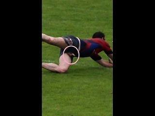 Rugby / fútbol exposición en el campo