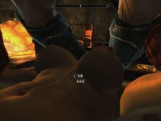 Skyrim: sexo con astrid (probando su lealtad a su marido)