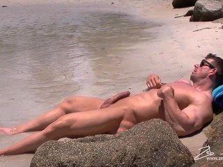 Zeb solo en la playa