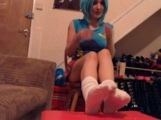 El calcetín tease jerk para mr socks