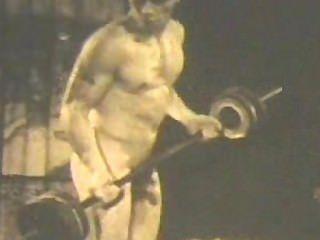 Clásico modelo físico monte hanson desnudo!