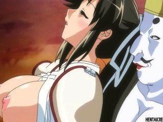 Atrapada hentai chica obtiene brutalmente follada