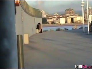 Locos adolescentes córnea follan en público