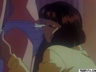 Hentai dickgirl obtiene cabeza y folla coño