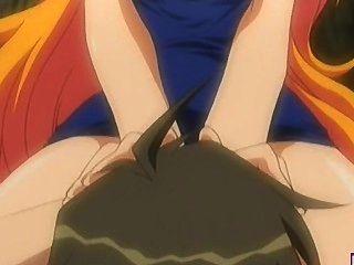 Rubia hentai grande titted se lame y follada al aire libre
