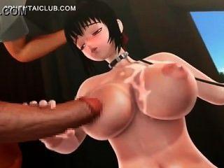 Busty hentai chick obtener tittyfucked