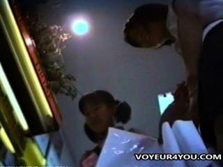 Upskirt bragas voyeur película