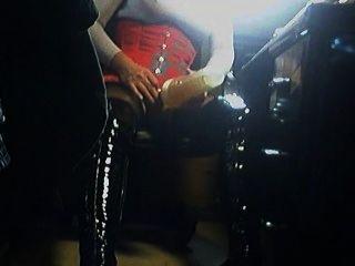 Fleshlight en las botas altas del muslo