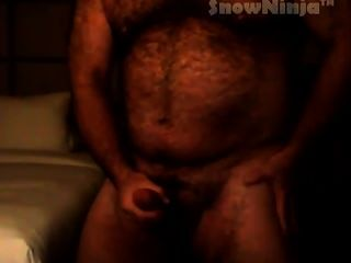 Muscle bear trio with cumshot