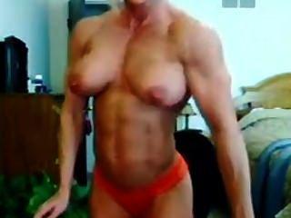 Musculoso milf insame pec boucing