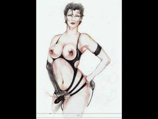 Femdom fetish ropa bdsm bondage desgaste arte strapon comics