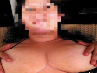 Mujer, masaje, ella, tetas