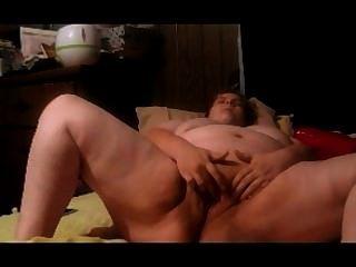 Embarazada bbw juega con coño húmedo en hinden cam