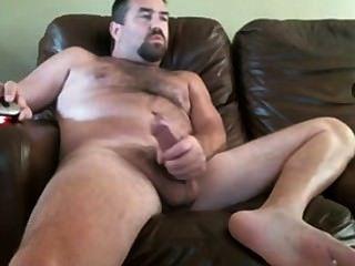 Papá con un gran pito en la webcam
