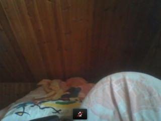 Chica desnuda en webcam