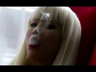 Asiático exhales_smoking fetiche.