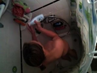 Sexy gf ducha afortunada ella no vea mi cámara