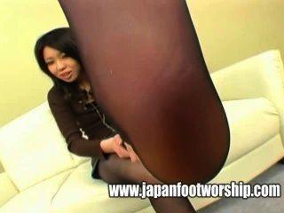Pie fetiche medias de seda pie