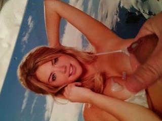 Cum homenaje a kate upton 2014 calendario bikini pic