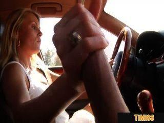 Mi ex gf me sacude mientras conduce