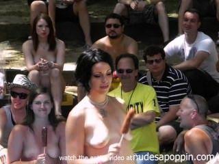 Increíble aficionados orgasmo y concurso de mamada