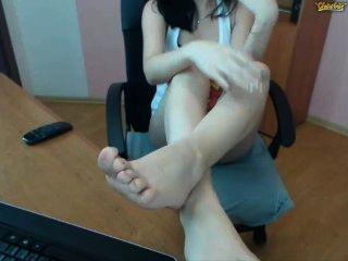 Joven show sucio pies soles privado show webcam chaturbate cb candynita