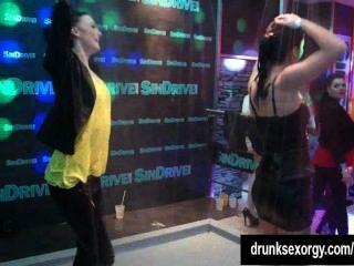Perras sexy bailando eróticamente en un club