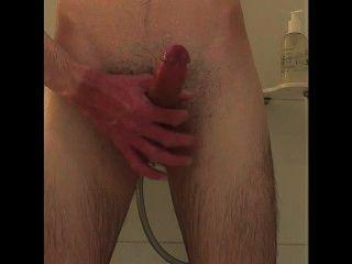 Masturbándose en la ducha