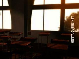 Tímida 3d anime colegiala mostrar tetas