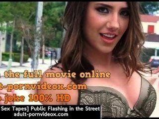 [Cintas de latina sexo] público que parpadea en la calle