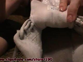 Calcetines sucios y desagradables