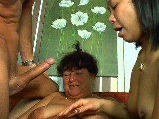 Pareja alemana compartir una mujer madura