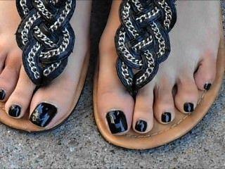 Nia uñas de los pies