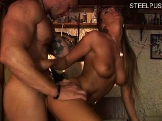 Chica joven anal dura
