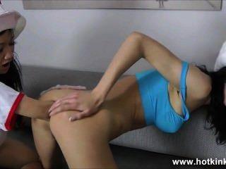Caliente kinkyjo y sasha fisting anal estrella