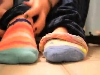 Calcetines a los dedos del pie